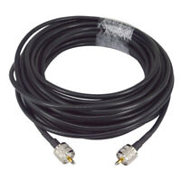 50 ft RG8X coax coaxial UHF PL-259 connectors amateur ham CB radio antenna cable