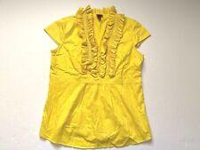 Merona Sleeveless Yellow Blouse Top women Size Large
