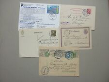 Five old postal stationery :t2X Norway,Romania,Netherland s,Micronesia