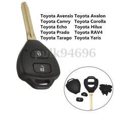 2 Button Remote Key Shell For Toyota Rav4 Corolla Camry Yaris Echo Hilux Prado
