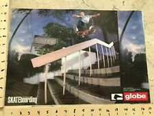 Paul Machnau Greg Lutzka Skateboarding Poster Double sided Globe Shoes rare