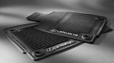 Lexus Genuine IS250 IS350 AWD All Season Rubber Floor Mat Set BLACK 2014-2017
