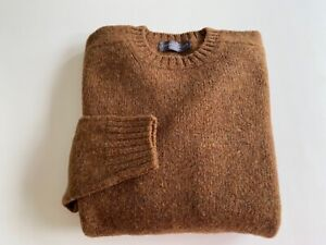 "Gents Shetland Wool Crew neck 38"" and 40"" Made in Scotland"