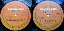 TOP 10 (TOP OF THE POPS) CHIQUITITA (ABBA) 1979 1/1 STAMPERS RARE CHILEAN PRESS!