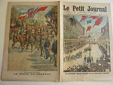 PETIT JOURNAL- 1914 - N° 1224 : accueil des souverains anglais à Paris