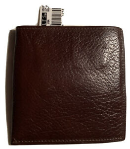ROLFS Mens Stallion Double Attache Brown Wallet Genuine Leather 12 Credit Cards