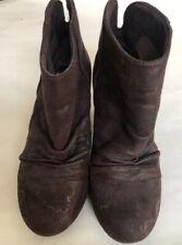 Sugar Tula Shoes Cowboy Dark Brown Women's Ankle Boots Bootie Size  7M