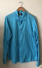 BDG Urban Outfitters Button Down Long Sleeve Lightweight Shirt Turquoise Size L