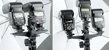 Maxsimafoto - Dual / Triple Flash Bracket Umbrella Holder Light Stand Shoe
