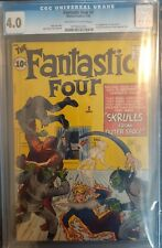 Fantastic Four 2 CGC 4.0 Key Issue - First appearance of Skrulls