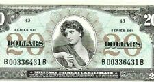 "$20 ""SERIES 661"" (CRISPY) RARE!! $20 ""MILITARY PAYMENT CERT."" SERIES 661"" CRISPY"