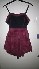 Living dead souls womens dress detachable straps red&black size L chest 34""