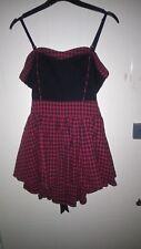 """Living dead souls womens dress detachable straps red&black size L chest 34"""""""