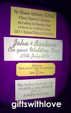 Aluminium Decorative Indoor Signs/Plaques
