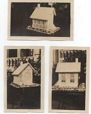 Three 1920 Photos of Folk Art Wedding House made by Moritz Winter at Woodland CA