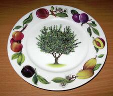 """St. Martin Email de Limoges 7 1/2"""" Plate Botanical Fruits Rim"""