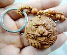 Hand-carved tiger head Wooden Crafts, Key Chain, Key Ring Lover Gift