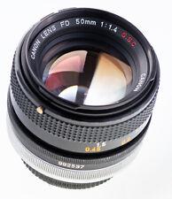Canon FD 50 mm f 1,4  S . S . C  8 Blades   SN:992537 Chrome Bajonett