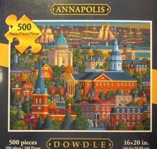 """Dowdle Folk Art Puzzle ~ """"Annapolis"""" ~ 500 Pieces ~ New ~ Sealed Pkg."""