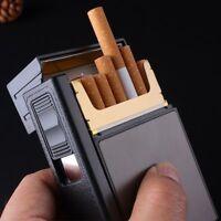 Caja Para Cigarrillos Con Encendedor Electrónico Recargable A Prueba De Viento
