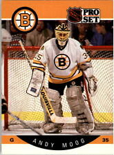 1990-91 PRO SET HOCKEY ANDY MOOG CARD #10 BOSTON BRUINS NMT/MT-MINT