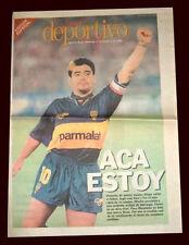 DIEGO MARADONA BOCA JUNIORS vs KOREA - Newspaper Argentina 1995