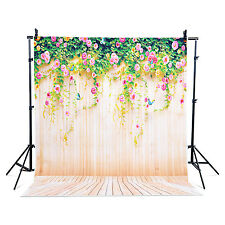 Us 5x7ft Gradient Studio Photo Backdrop Wooden Vertical flowers wall light stand