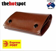 Tan Brown Faux Leather Cigarette Tobacco Pouch Bag Filter Roll Paper Christmas