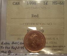Canada Elizabeth II 1998 Extra Bud Small Cent - ICCS MS-66 (XHL 919)