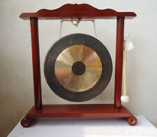 """12"""" Traditional Gong Stand Set instruments copper handmade wood Mallet tool club"""