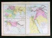1882 Map Ancient World Egypt Palestine Asia Orient