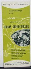 1960-1969 VW Volkswagen Judson Supercharger Dealer Sales Brochure Original Rare