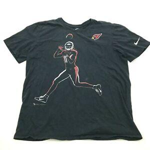 Nike Larry Fitzgerald Arizona Cardinals Shirt Size Large Black Short Sleeve Tee