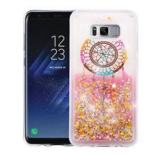 For Samsung Galaxy S8 PLUS Dream Catcher Star Pink Glitter Liquid Quicksand Case
