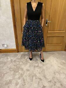 Erdem Midi Floral Party/cocktail Dress/38/uK 10