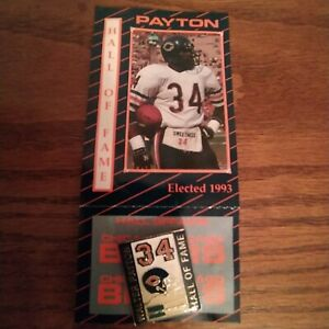 WALTER PAYTON Hall of Fame Collector's Pin Chicago Bears 34 1993 New Old Stock