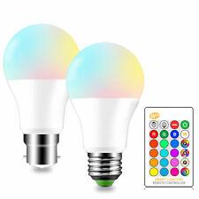 Control remoto por infrarrojos RGB LED Lámpara Bombilla B22 E27 5W 10W 15W red, green, de color azul y blanco 16 LED Lámpara GL