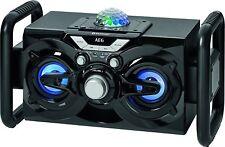 AEG EC 4844 Bluetooth- Musikanlage, Karaoke-Funktion, Mikrofon und Discokugel