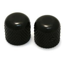 "(2) Black Vintage Dome Knobs for Tele® & P Bass® 1/4"" Solid Shaft MK-0110-003"