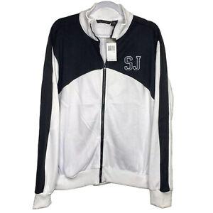 Sean John Full Zip Jacket Men's Size M L XL 2XL Colorblock Logo White Black New