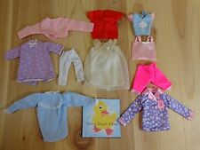 Barbie Doll Clothing Lot of 10 PAJAMA PIECES Tops Pants Pink Purple Blue Red