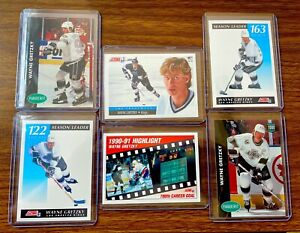 91 WAYNE GRETZKY NHL LOS ANGELES KINGS 6 CARD LOT 🐏 GOAT THE GREAT ONE
