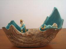 Elf Elves Figurines Faux Wood Log Planter Kidos Krafts Ceramic Mold Pointed Toe