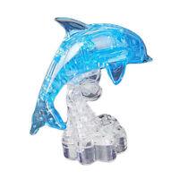 3D Crystal Jigsaw Puzzles Module de dauphin bleu DIY Artisanat de jouet de