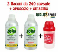 Enervit ENERZONA OMEGA 3 RX (EPA + DHA) 240 capsule da 1 g Nuovi Lotti x 2 2020