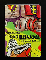 Grateful Dead Backstage Pass Puzzle Truck Road Crew Oakland 12/13/92 12/13/1992