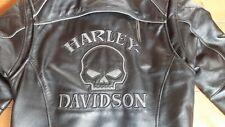 Harley Davidson Lederjacke Damen Motorradjacke Skull Gr. S Kapuzen-Innenjacke