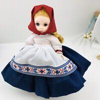 Madame Alexander Doll 8 Inch Russia 548 Original Box Stands Tag Dress Kerchief
