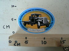 STICKER,DECAL REO SPEED WAGON 1932 LEENDERT & BETTY VAN WINGERDEN OLDTIMER CAR
