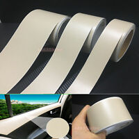 Useful Beige Matte Leather Grain Texture Vinyl Sticker Tape for Car Home Wrap AB
